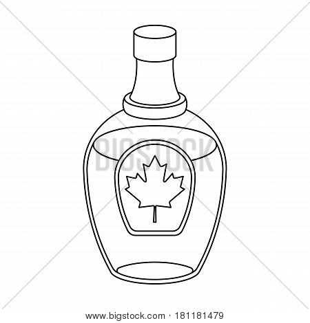 Canadian maple syrup in a bottle. Canada single icon in outline style vector symbol stock illustration .