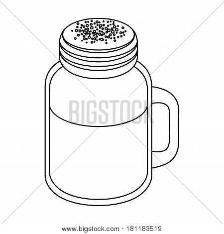 milk shake.Different types of coffee single icon in outline style vector symbol stock illustration .