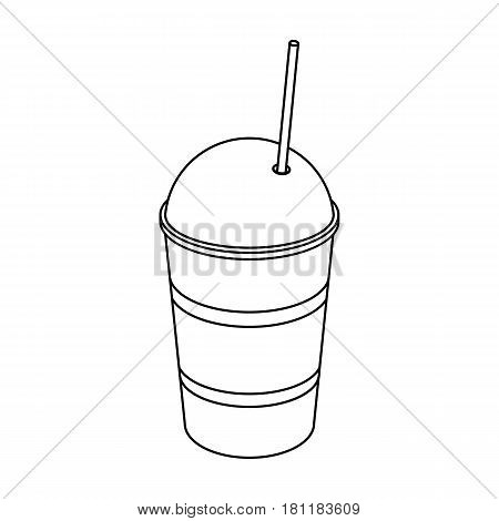 Latte for take-away.Different types of coffee single icon in outline style vector symbol stock illustration .