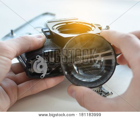 Repair Of The Old Film Camera.