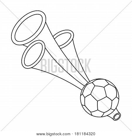 Trumpet football fan.Fans single icon in outline  vector symbol stock illustration.