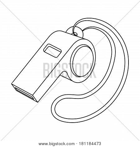 Whistle football fan.Fans single icon in outline  vector symbol stock illustration.