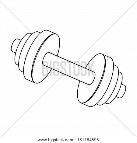 Weights for training. Metal training tools.Gym And Workout single icon in outline style vector symbol stock web illustration.
