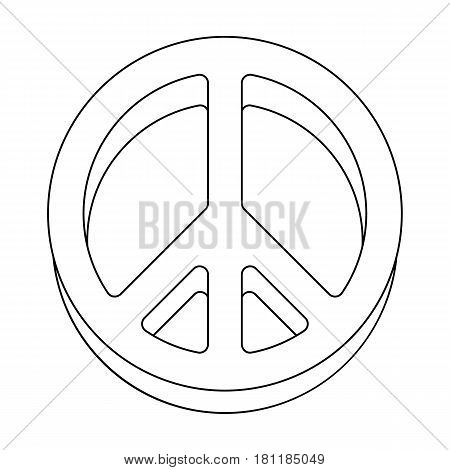 The icon of the world.Hippy single icon in outline style vector symbol stock illustration .