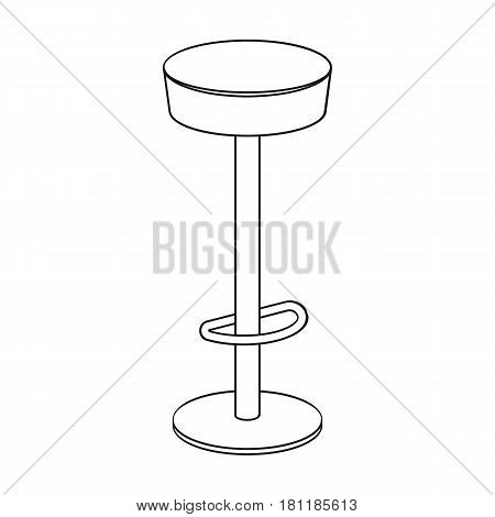 High chair seat near the bar. Bary chair to relax. Pub single icon in outline style vector symbol stock web illustration.