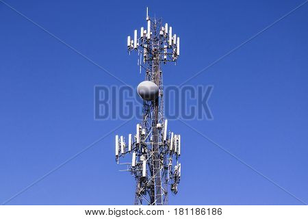 Telecommunications and Wireless Equipment Tower with Directional Mobile Phone Antenna III