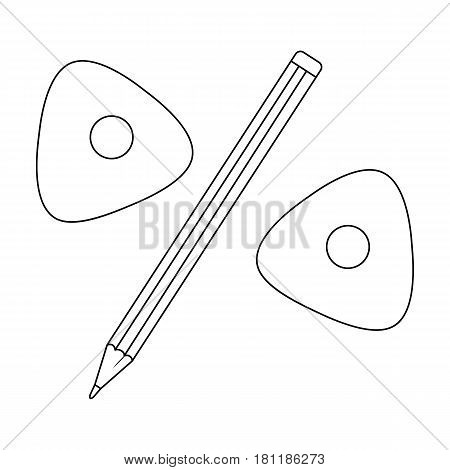 Pencil and sewing wash.Sewing or tailoring tools kit single icon in outline style vector symbol stock web illustration.