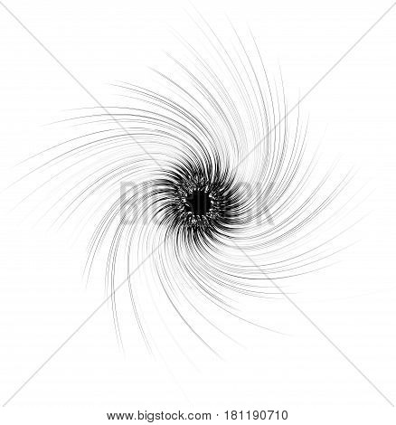 Abstract Spiral Element In Irregular, Random Fashion. Geometric Hypnotic Vortex.