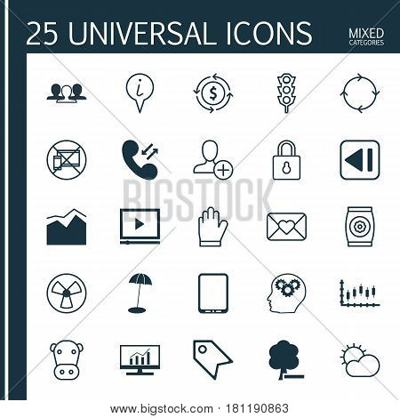 Set Of 25 Universal Editable Icons. Can Be Used For Web, Mobile And App Design. Includes Elements Such As Stoplight, Group, Cellular Data And More.