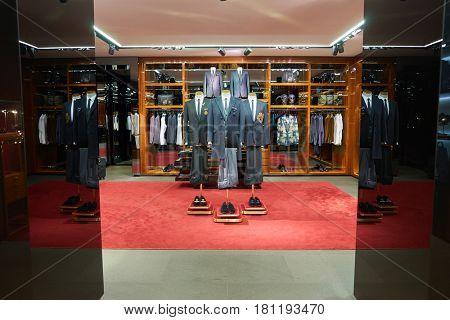 HONG KONG - CIRCA NOVEMBER, 2016: Dolce & Gabbana store at the Elements shopping mall. Dolce & Gabbana is a luxury Italian fashion house.