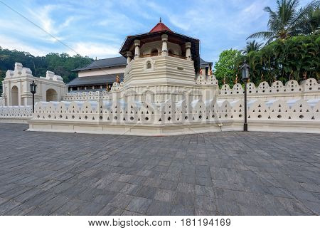 Temple of the Sacred Tooth Relic at Kandy Sri Lanka