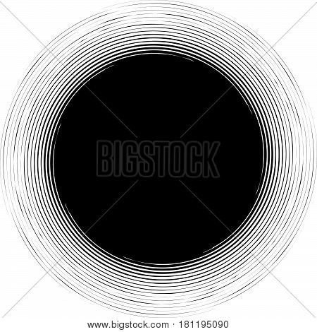 Radial, Radiating Lines Abstract Element. Circular Pattern Of Rays, Beams. Ripple Effect
