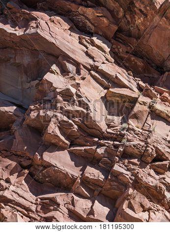 Jagged Red Rocks of Kolob Canyon in Southeastern Utah