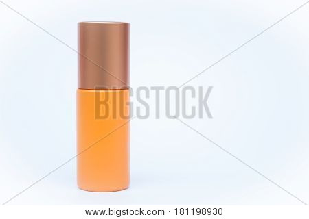 Cosmetic bottle isolated on white background, stock photo