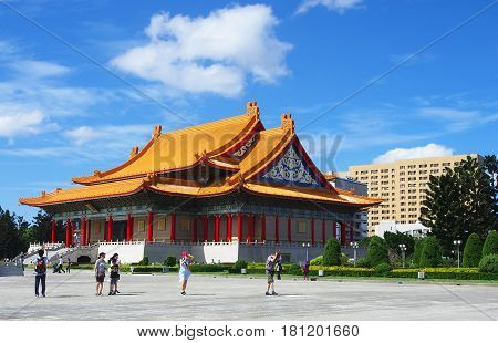 Chiang Kai Shek Memorial Hall, Taiwan : October.10.2016 : The site of the Memorial Hall was originally a military base and was later decided to be used as the location used for the Memorial Hall.