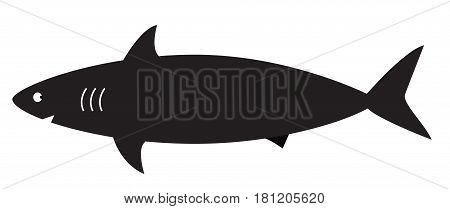 shark sign logo on a white background.