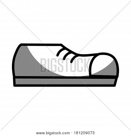 silhouette fashin man shoes style, vector illustration design