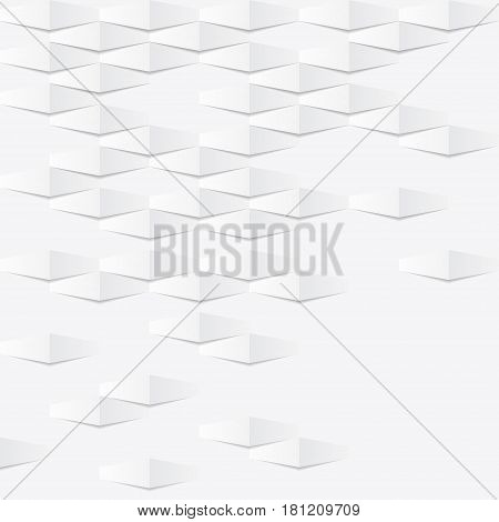 Abstract white background with different pieces and shadows