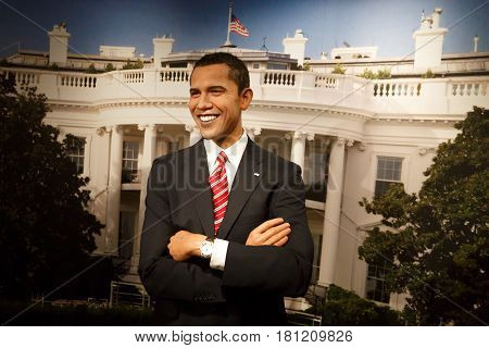 Barack Obama Wax Sculpture In Museum