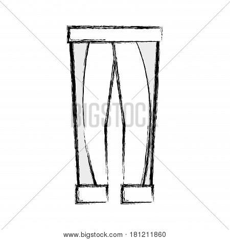 contour fashion man pants cloth style, vector illustration