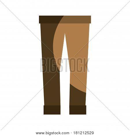 fashion man pants cloth style, vector illustration