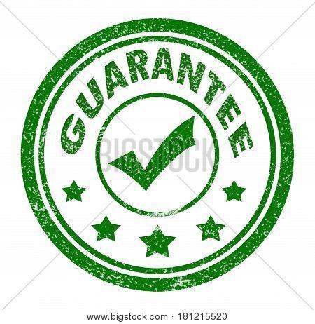 guarantee stamp. guarantee stamp on white background.