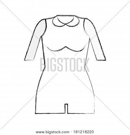 contour jumpsuit short cloth style, vector illustration design