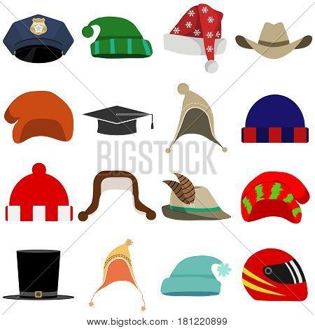 Hat headpiece. Flat design vector illustration vector.