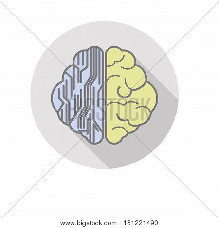 vector difference propose of brain art and logic icon flat design