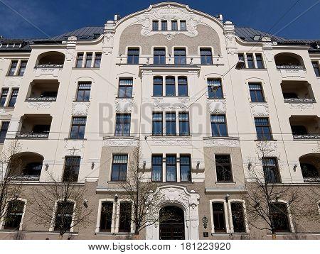 Riga, street Elizabetes 22, Art Nouveau, jugendstil