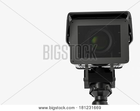 Cctv Camera Or Security Camera Isolated On White
