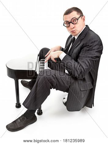 portrait of a businessman on white background with a clipping paths