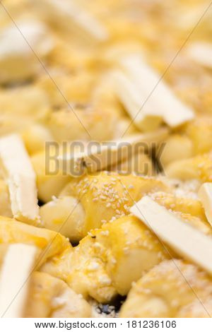 Rolls Prepared For Baking With Margarine