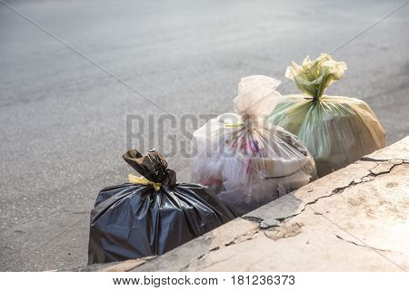 disposal garbage collection split type of waste in the bags