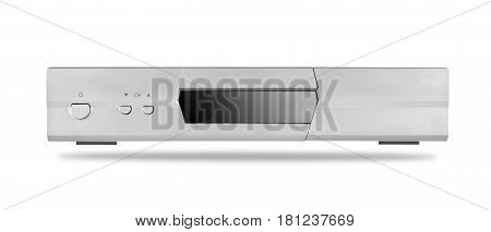 DVD player with tuner isolated on a white background