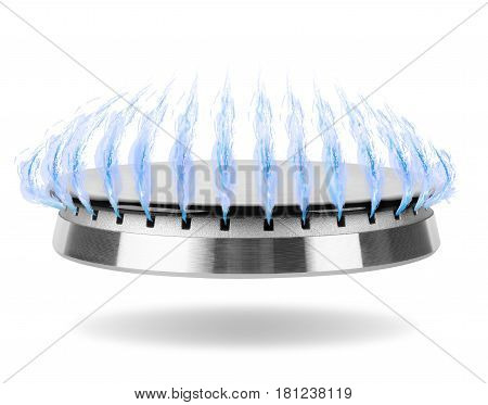 Stove gas burner isolated on a white background