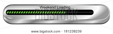 green Weekend Loading bar - 3D illustration