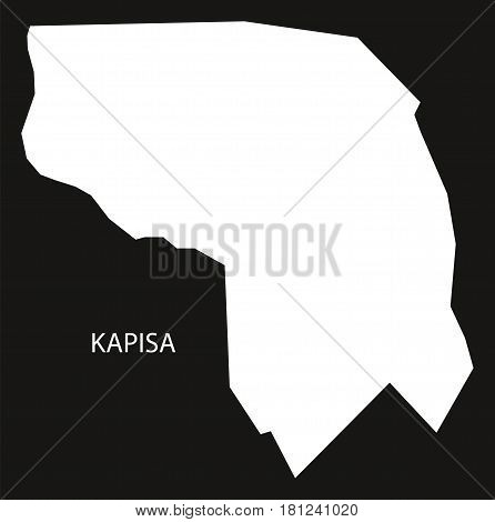 Kapisa Afghanistan Map Black Inverted Silhouette Illustration