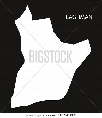 Laghman Afghanistan Map Black Inverted Silhouette Illustration