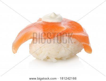 Sushi: Salmon Sake isolated on a white background