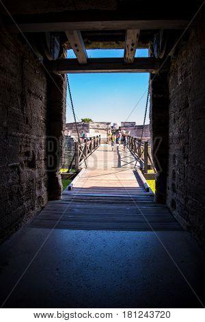 St. Augustine Fort Florida Bridge Walkway View