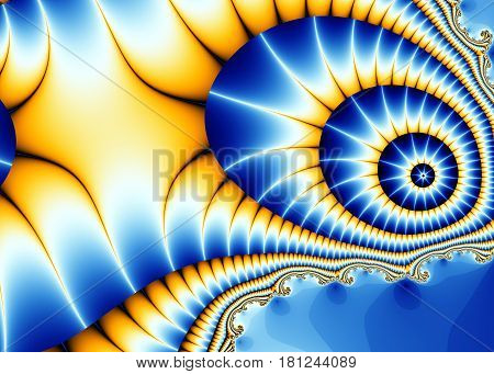Beautiful fractal background with a stylized butterfly wing outlandish.