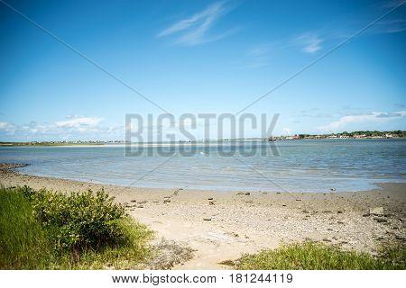 saint augustine sandy beach in florida at the atlantic ocean