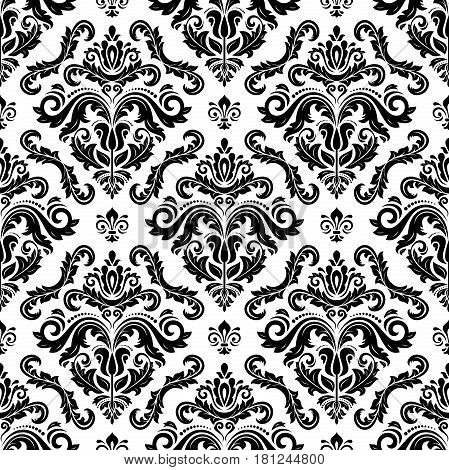 Classic seamless vector pattern. Traditional orient black and white ornament. Classic vintage background