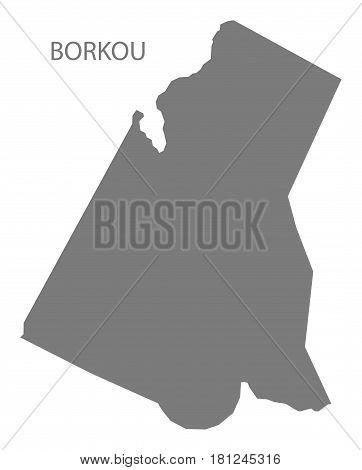 Borkou Chad Region Map Grey Illustration Silhouette