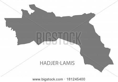Hadjer-lamis Chad Region Map Grey Illustration Silhouette