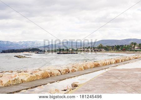 Promenade alley, Seafront in latchi, Cyprus island