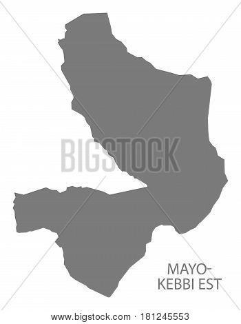 Mayo-kebbi Est Chad Region Map Grey Illustration Silhouette