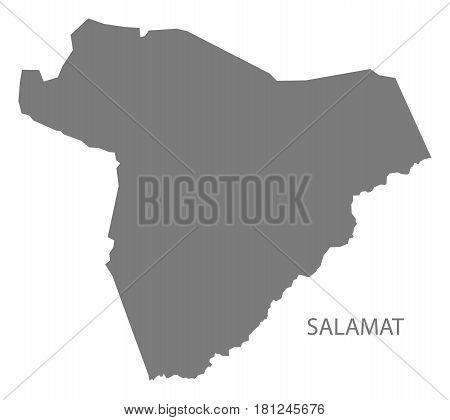 Salamat Chad Region Map Grey Illustration Silhouette