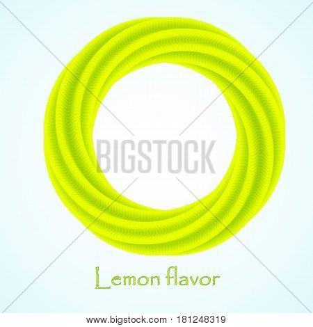 Yellow and green business abstract circle icon for your design. logotype. Vector illustration